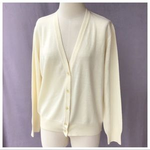 NWOT Kasha de Rodier Wool Button Cardigan S